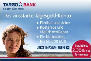 Targobank Deutschland: Zinserhöhung beim Tagesgeldkonto der TARGOBANK